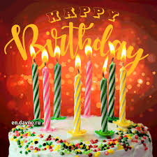 Yummy Birthday Cake Gif Animation With Candles Burning Download On