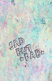 Sad but fab wallpaper from Teenager Wallpaper app ;