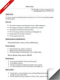 Dental Assistant Objective For Resume Dental Hygienist Resume Sample Resume Dental Assistant Objective 59