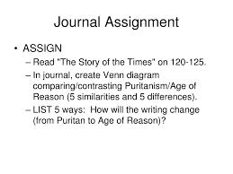Puritans And Quakers Venn Diagram Ppt Puritanism Unit One Powerpoint Presentation Id 6116210