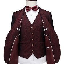 Latest Blazer Designs 2018 Us 86 43 32 Off Slim Fit Men Suits Royal Blue Wine Red Blazer Latest Coat Pant Designs 2018 Groom Wedding Dress Tuxedo Suit Male 3 Pieces Suit In