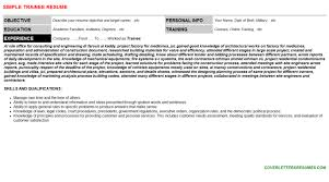 sheriff trainee resumes and cover letterstrainee resume sample