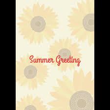 暑中残暑見舞い縦ひまわりの夏のグリーティング イラスト 商用
