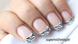 French Tip Manicure Nail Designs Easy Nail Art In French mani Tips ...