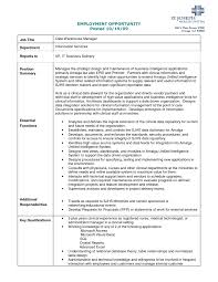 Printable Employment Opportunity And Data Warehouse Manager For
