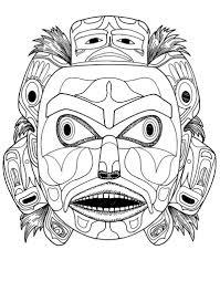 Masque Kwakiutl Esprit De L Ours Art Natif Am Ricain