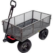 gorilla carts heavy duty multi use steel garden cart 1200 lb