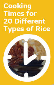 Stove Top Cooking Times For Rice Chart With 20 Different
