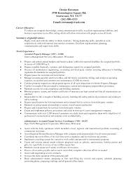 Property Manager Resume Sample Project Scope Template