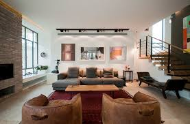track lighting living room. Recessed And Track Lighting For Chic Living Room Idea