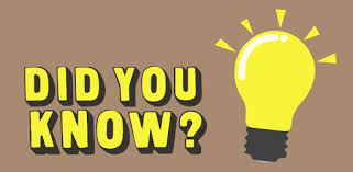 """Photo of a light bulb with a light brown background and the words, """" Did You Know?"""""""