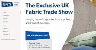 Bfm Design Bfm Fabric Show London 2020 Date Change Furniture