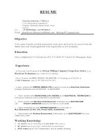 Sample Resume For Electrical Technician Marine Electrician Resume