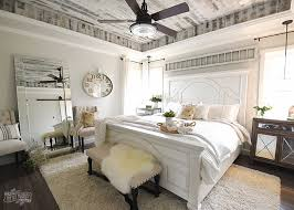 Lovely Modern French Country Farmhouse Master Bedroom Design
