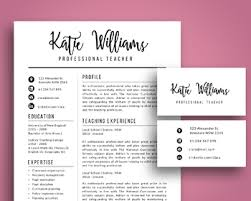 Script 3 In 1 Teacher Resume Template For Ms Powerpoint Updated Business Cards
