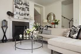enchanting living room table accessories and round glass coffee table living room modern with accent pillows