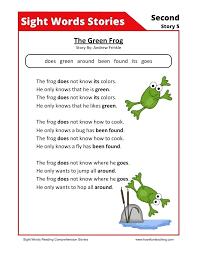 Reading Worksheets Comprehension Article For Kindergarten Coloring ...