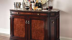 Funiture Sweet Wooden Home Bar Cabinet Designs With Carved Accent