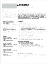 Property Disposal Specialist Resume Account Representative Resume