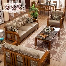 get quotations kesha di wood sofa combination of small apartment living room sofa wooden antique wood furniture la121