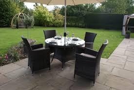 appealing rattan outdoor dining furniture paris seater round set