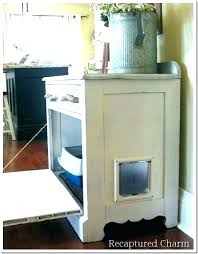 furniture to hide litter box. Furniture For Cat Litter Box Quikyco Hidden Kitty White Wood To Hide