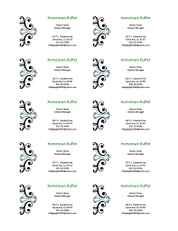 Ms Word Business Card Template Business Card