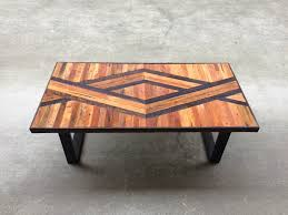 One of my new coffee table top designs. Reclaimed Lath from Seattle homes,  homemade
