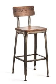 Retro Kitchen Bar Stools Octane Bar Stool With A Wood Seat Gunmetal With Wood Seat