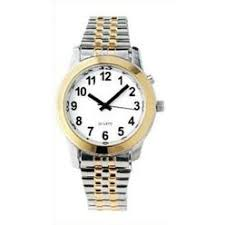 talking watches for the blind active products plus spanish talking men s deluxe watch two tone for the blind and low