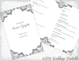 Booklet Program Template Wedding Program Template Catholic No Mass Ceremony Marriage