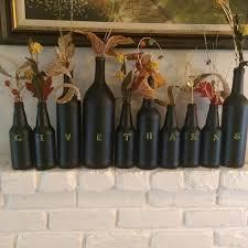 Home Decor With Wine Bottles Fun DIY Thanksgiving Wine Bottle Decor Hometalk 4