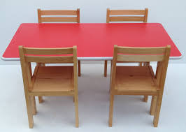 kids preschool beech wood table and chairs set