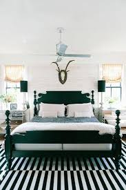 black bed with white furniture. Decorate With A Black And White Striped Carpet To Give Your Bedroom Some Modern Flair. Pair The Rug Matching Bed Frame. Furniture