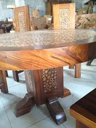 branch inlay dining set inc glass top natural finished 6 rupert chairs round 1 4 metre