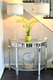mirror table decor foyer decor using pier 1 elegant glass candlestick lamps mirrored glass entryway table