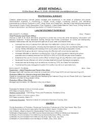 Probation Officer Resumes Parole Officer Resume Rome Fontanacountryinn Com