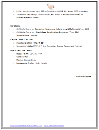 It Resume Formats Bsc It Resume Format Page 4 Resume Format Resume
