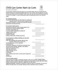Child Care Budget Template Sample Child Care Budget Forms 7 Free Documents In Word Pdf