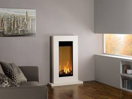 gazco studio 22 gas fire with soro frame in natural limestone