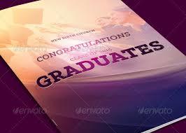 Booklet Program Template Graduates Celebration Church Program Template Inspiks Market