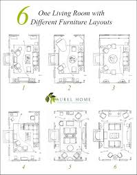 Living room furniture design layout Floor Plan Lets Look At Six Different Living Room Layouts With Furniture Warkacidercom One Living Room Layout Seven Different Ways Laurel Home