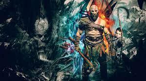 Kratos God Of War 4k Artwork ps games ...