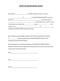 Purchase Agreement Vehicle Deposit Contract Template Sample Purchase And Sale Agreement For Car