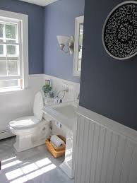 Small Picture 25 Stylish Wainscoting Ideas Color blue Bath and Half bath remodel