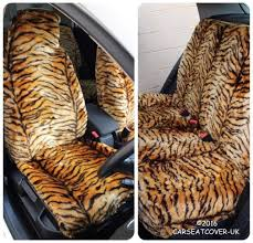 toyota camry gold tiger faux fur furry car seat covers full set