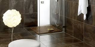 Brown Tiles Bathroom Antares Collection Stoneware With Black And Grey Contrasts