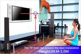 bedroom tv wall mount height wall