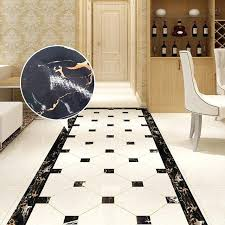 black and white wall border black yellow white marble wall sticker waist lines waterproof self adhesive black and white wall border