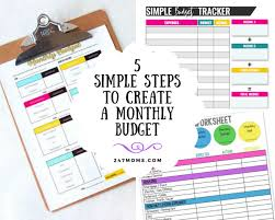 How To Make A Monthly Budget 5 Simple Steps To Create A Monthly Budget 24 7 Moms